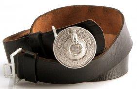 Wwii German Third Reich Ss Belt Buckle And Belt