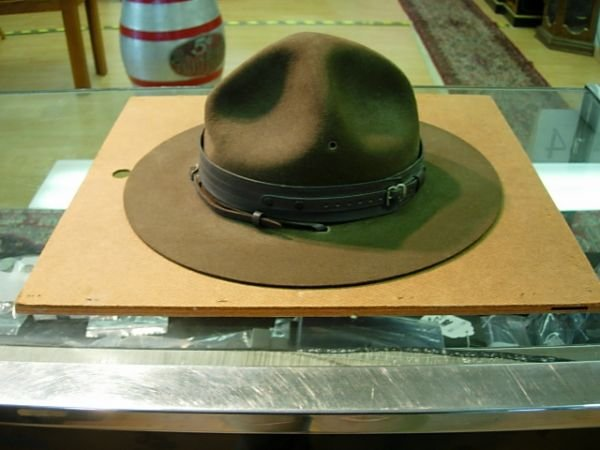 18: BOY SCOUT SCOUTMASTER HAT AND HAT PRESS