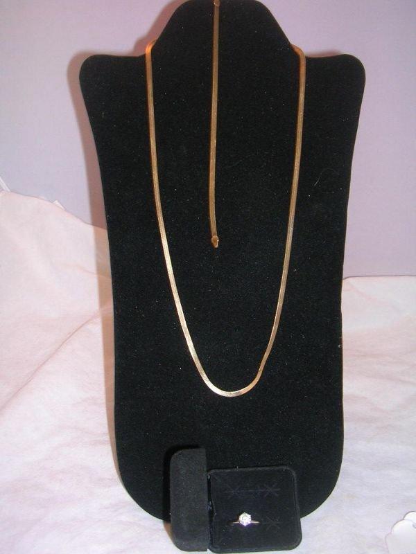 8: 14K GOLD COBRA NECKLACE BRACELET RING