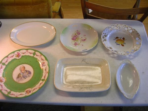 3: ANTIQUE IRONSTONE  PORCELAIN LOT OF 6 NIPPON CHETWY