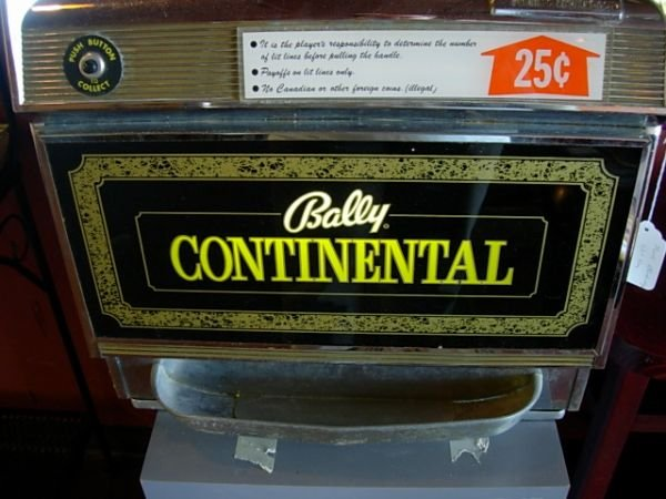 395: VINTAGE SLOT MACHINE BALLY CONTINENTAL - 2