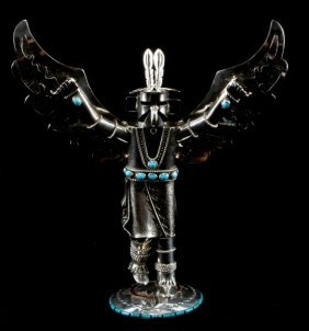 Sterling Silver Navajo Eagle Kachina Art Signed