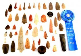 Archaic Woodland Arrowhead Point Collection Lot