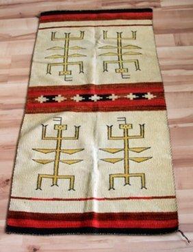 Antique 20th Century Original Navajo Pictorial Rug