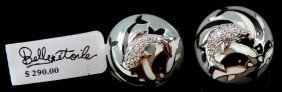 """Nwt Ladies .925 Earrings Belle Etoile """"art Deco"""""""