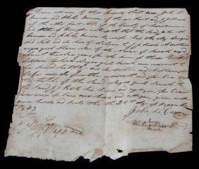 Tennessee 1843 Slave Girl Sarah Transfer Deed