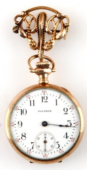 Ladies Waltham Brooch Pin Pocketwatch