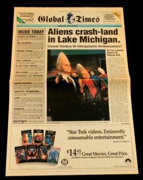 Coneheads Mock Newspaper Promo Global Times 1993
