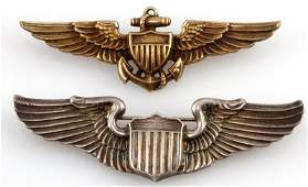 WWII US NAVY & USAAF STERLING AVIATOR PILOT WINGS