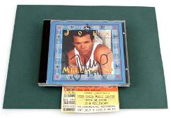 JOHN MELLENCAMP AUTOGRAPHED CD AND SHOW TICKET