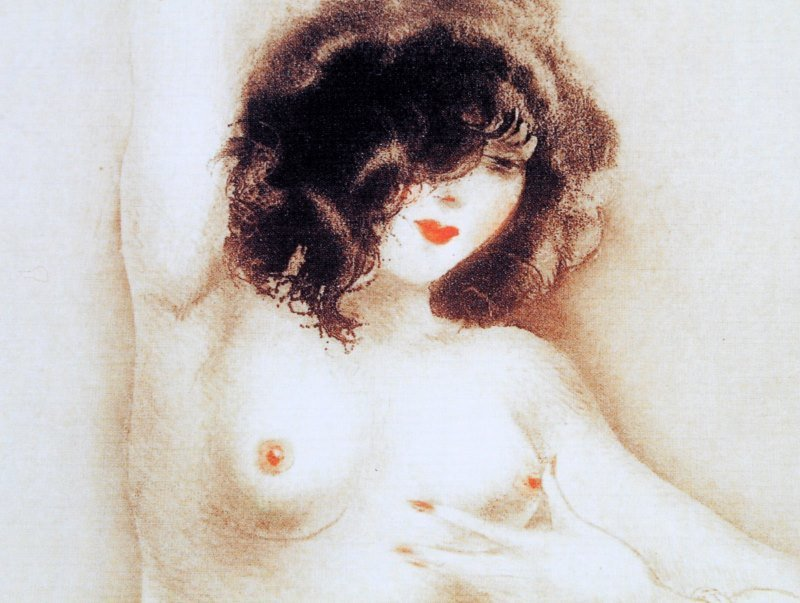 LOUIS ICART NUDE LITHOGRAPH 11 BY 14 INCHES - 3