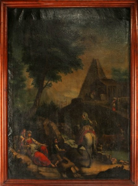 "16TH CENTURY ITALIAN SCHOOL OIL PAINTING 33"" X 46"""