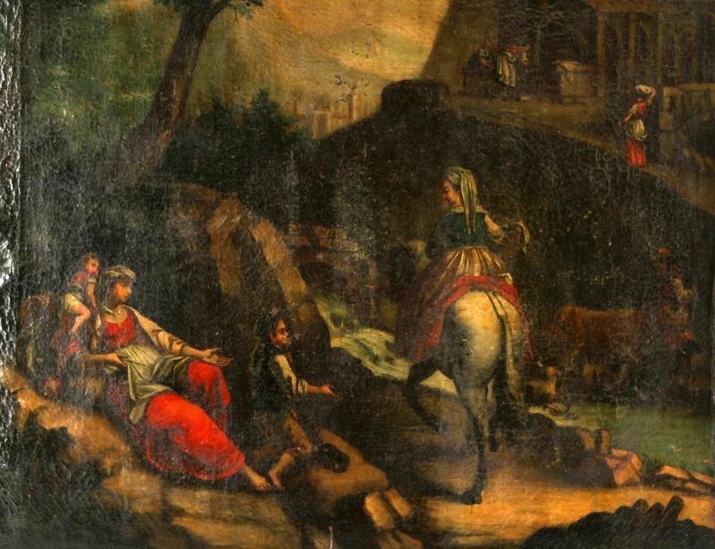 "16TH CENTURY ITALIAN SCHOOL OIL PAINTING 33"" X 46"" - 3"
