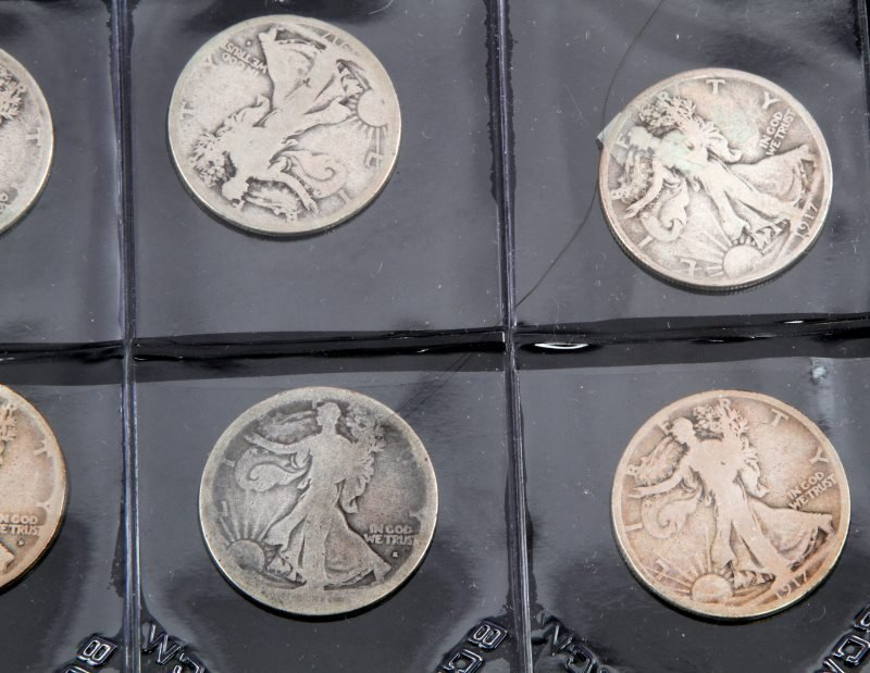 COLLECTION OF EARLY KEY DATE WALKING LIBERTY HALF - 2