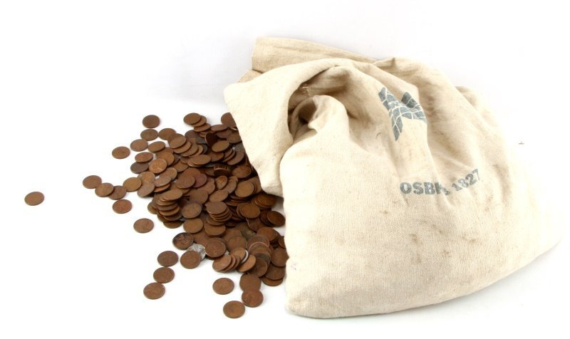 LINCOLN WHEAT CENTS BAG 35 LBS 5100 CENTS