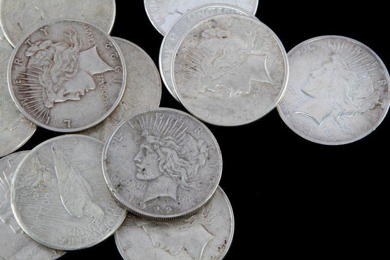 14 SILVER PEACE DOLLAR COIN LOT - 2
