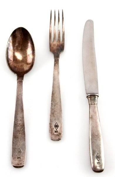 3 PEICE LOT HITLER YOUTH MESSHALL SILVERWARE
