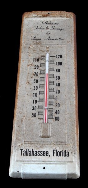 ANTIQUE TALLAHASSEE FEDERAL SAVINGS THERMOMETER
