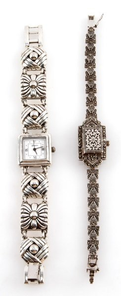LOT OF TWO LADIES WRISTWATCHES SILVER BOMA