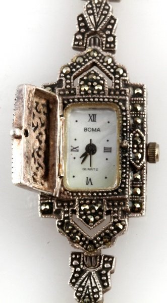 LOT OF TWO LADIES WRISTWATCHES SILVER BOMA - 3