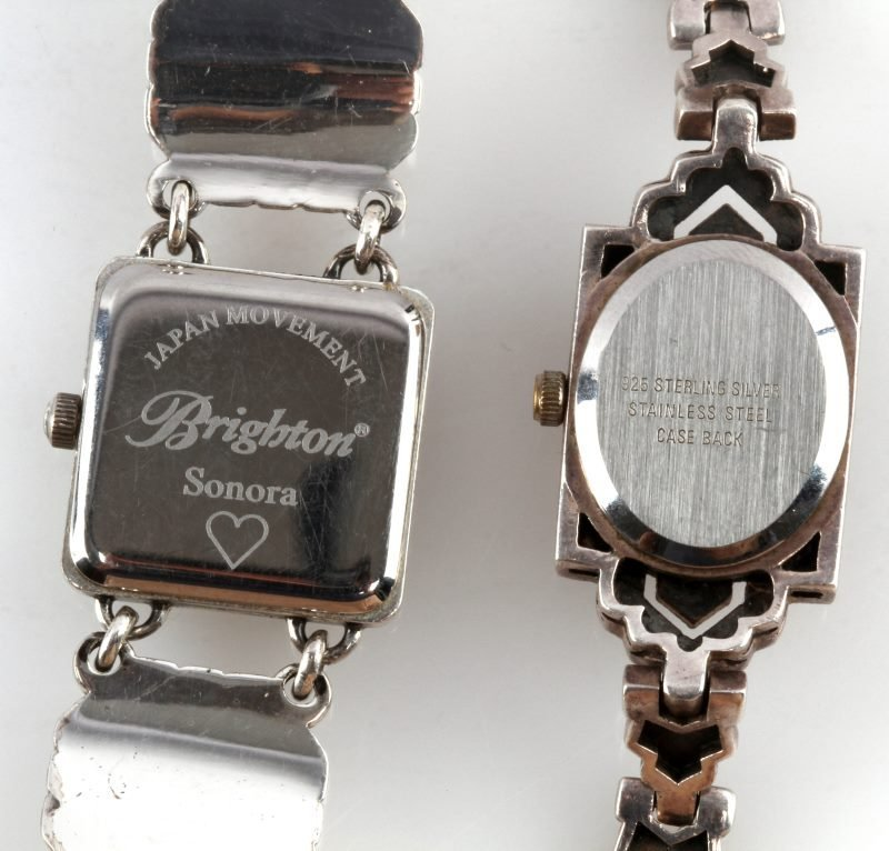 LOT OF TWO LADIES WRISTWATCHES SILVER BOMA - 5