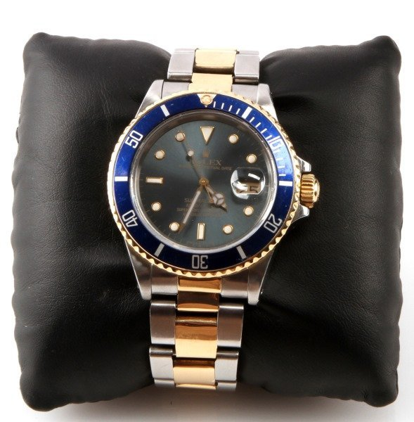 ROLEX SUBMARINER 18K/SS TWO TONE MEN'S DIVER WATCH