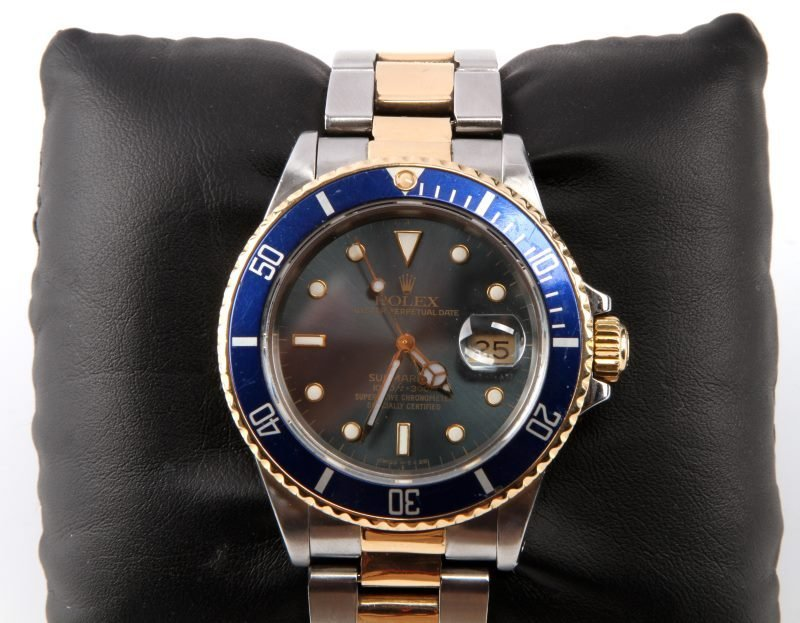 ROLEX SUBMARINER 18K/SS TWO TONE MEN'S DIVER WATCH - 2