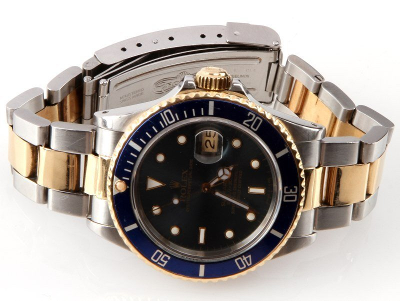 ROLEX SUBMARINER 18K/SS TWO TONE MEN'S DIVER WATCH - 3