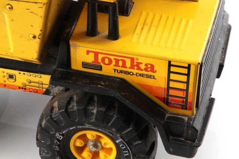 VINTAGE TONKA TURBO DIESEL XMB-975 STEEL DUMPTRUCK - 4