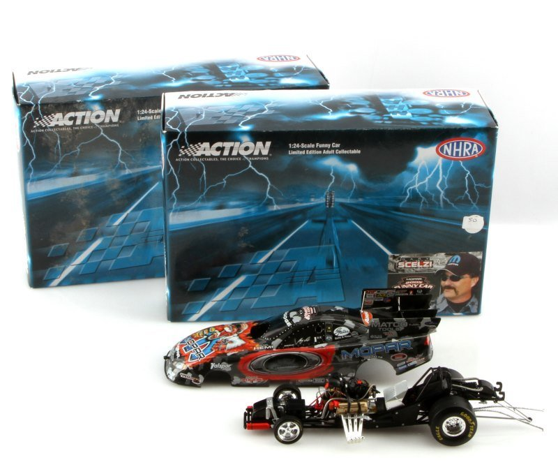 TWO ACTION 1:24 SCALE 2005 CHARGER FUNNY CARS