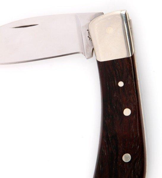 2 VINTAGE STEEL AND WOOD FOLDING POCKET KNIVES - 4