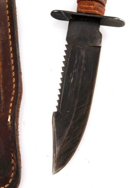 VIETNAM ERA PILOT SURVIVAL KNIFE & SCABBARD - 2