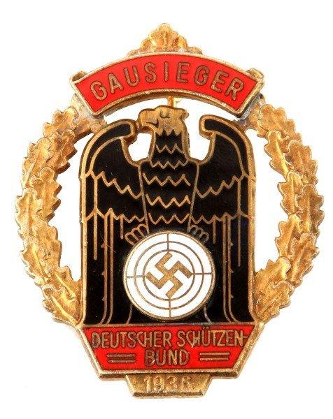 GERMAN WWII 1936 GAUSIEGER MARKSMAN SHOOTING BADGE