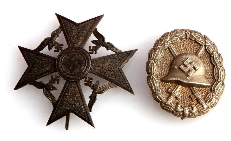 WWII CONDOR LEGION LOT BADGES SASH BELT CASE - 4