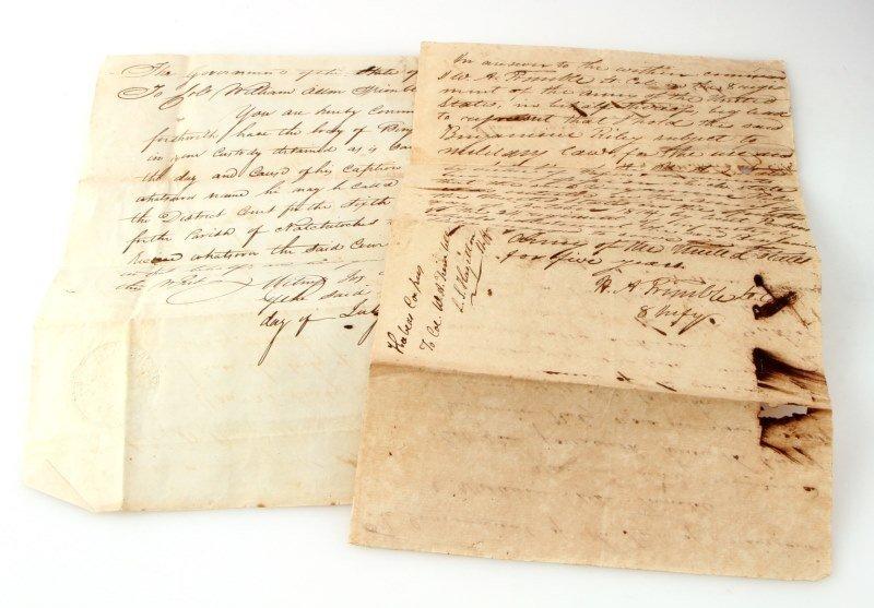 1817 LOUISIANA  MILITARY DOCUMENT TO HOLD PRISONER