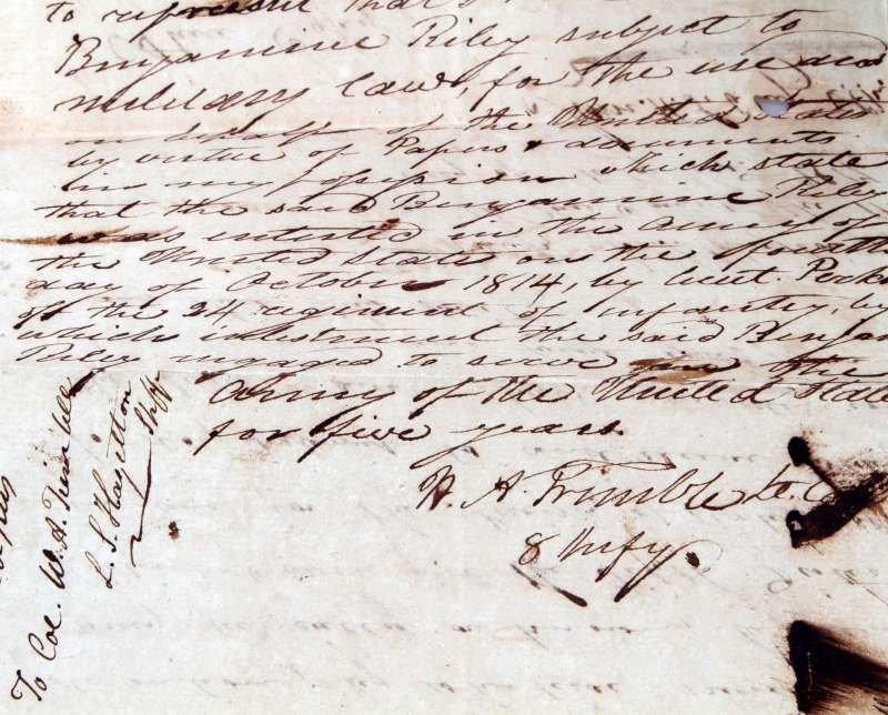 1817 LOUISIANA  MILITARY DOCUMENT TO HOLD PRISONER - 3