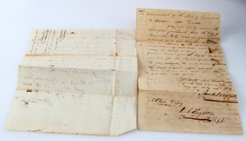 1817 LOUISIANA  MILITARY DOCUMENT TO HOLD PRISONER - 4