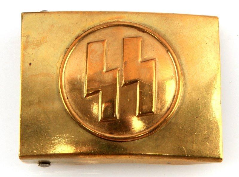 WWII THIRD REICH GERMAN SS BELT BUCKLES WITH BELT - 3