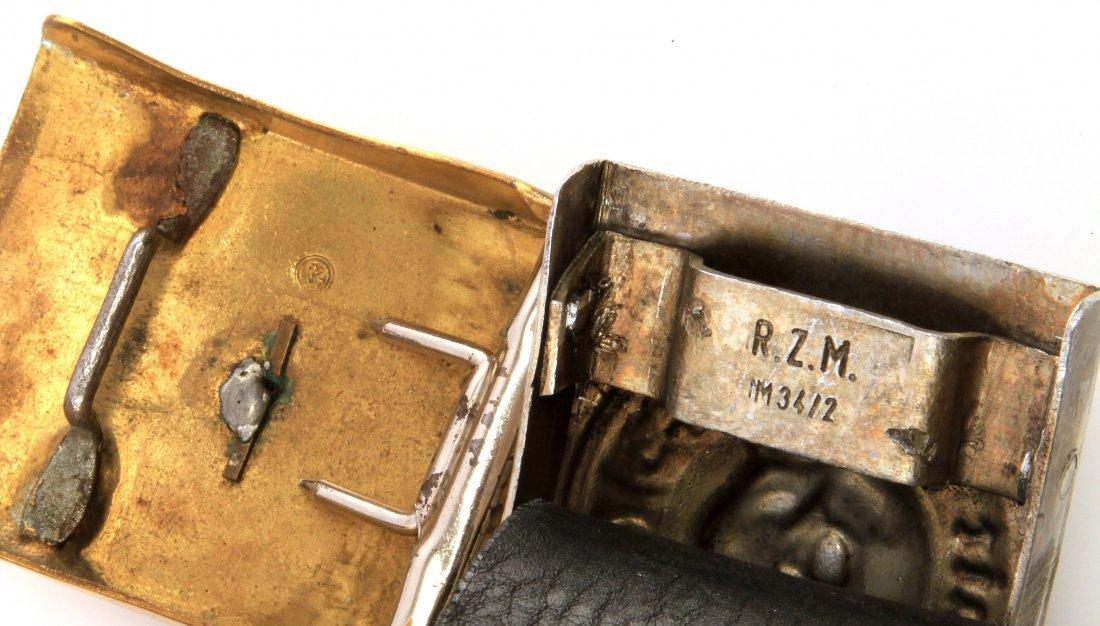 WWII THIRD REICH GERMAN SS BELT BUCKLES WITH BELT - 4