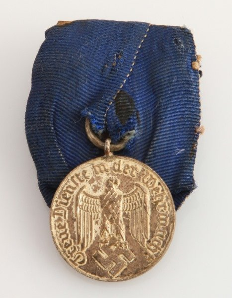 GERMAN WWII HEER LONG SERVICE MEDAL W RIBBON