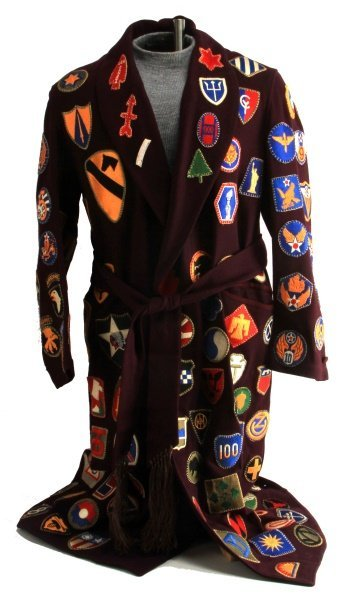 RARE WWII PATCH SEWN ROBE OVER 100 DIFFERENT