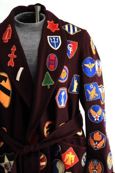 RARE WWII PATCH SEWN ROBE OVER 100 DIFFERENT - 2