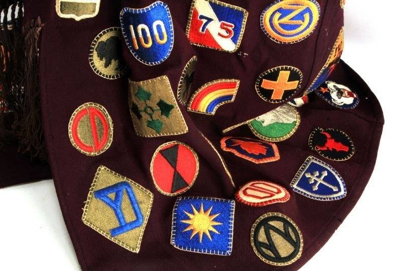 RARE WWII PATCH SEWN ROBE OVER 100 DIFFERENT - 3