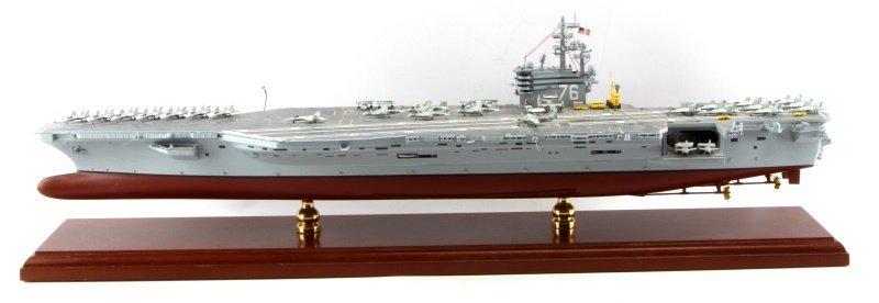 USS RONALD REAGAN CVN-76 MAHOGANY SHIP MODEL 1/350