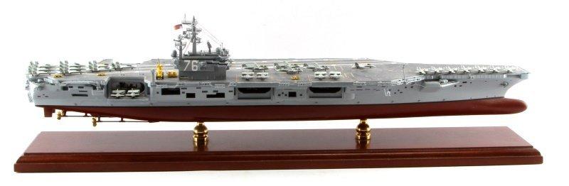 USS RONALD REAGAN CVN-76 MAHOGANY SHIP MODEL 1/350 - 5