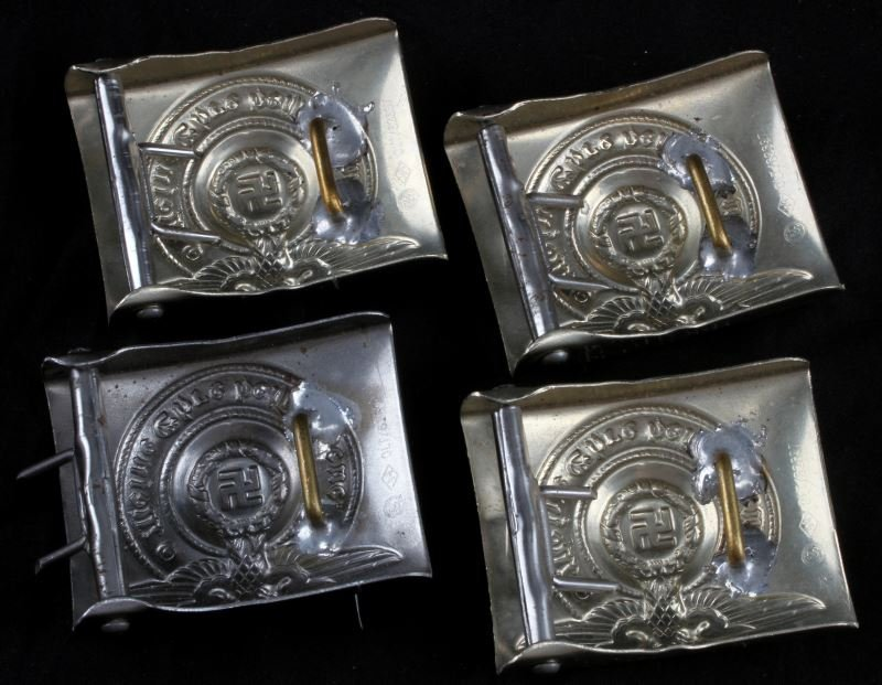 4 WWII GERMAN THIRD REICH REPRO SS BELT BUCKLES - 2