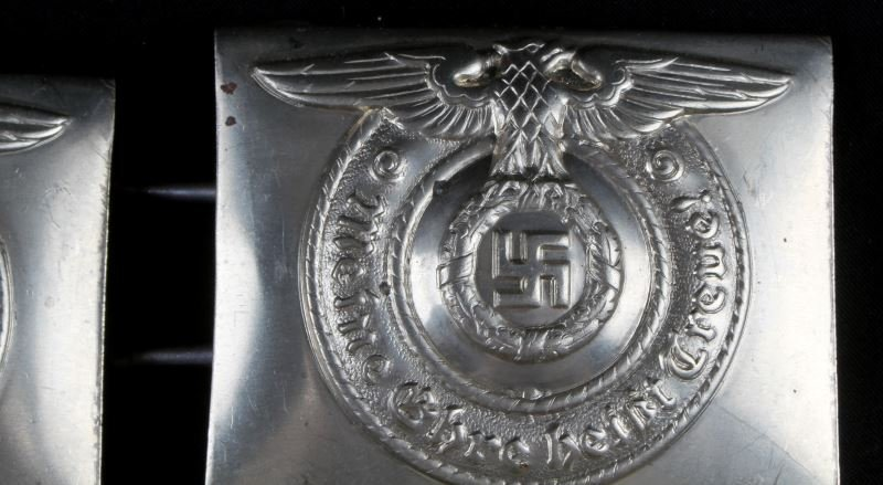 4 WWII GERMAN THIRD REICH REPRO SS BELT BUCKLES - 3