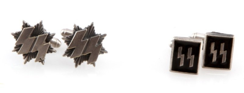 2 SETS OF GERMAN WWII WAFFEN SS CUFFLINKS