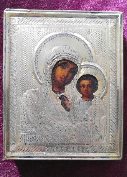 19TH CENTURY RUSSIAN KAZANSKAYA MOTHER OF GOD ICON
