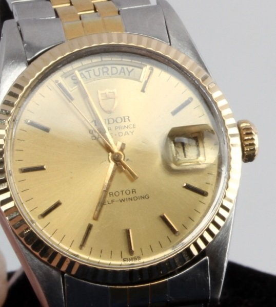 TUDOR OYSTER PRINCE DAY DATE TWO TONE WRIST WATCH - 2